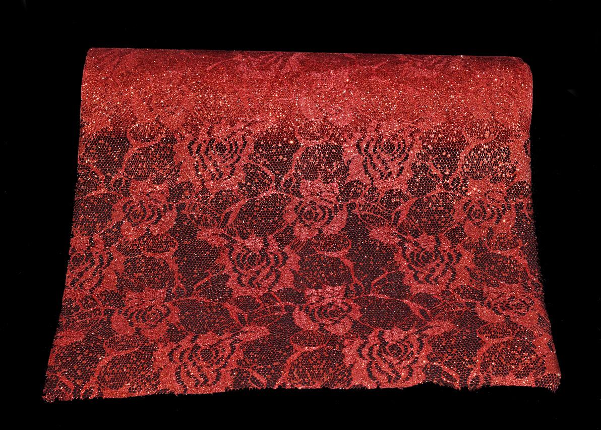 chemin de table rouge-bijoux feminin